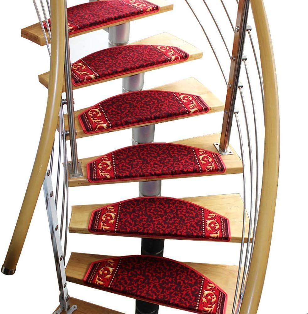 FXPCQC - Alfombra para escaleras, peldaños para escaleras, peldaños para escaleras, peldaños, alfombra para escaleras, medio arco no pegajoso, manta de lana para escaleras, 5 tamaños 3 estilos, b, 15pcs24x80cm: Amazon.es: Hogar