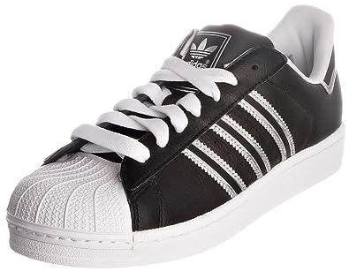 half off 811f2 030f8 adidas Women s Black Silver Superstar 2J Leather Trainers ...