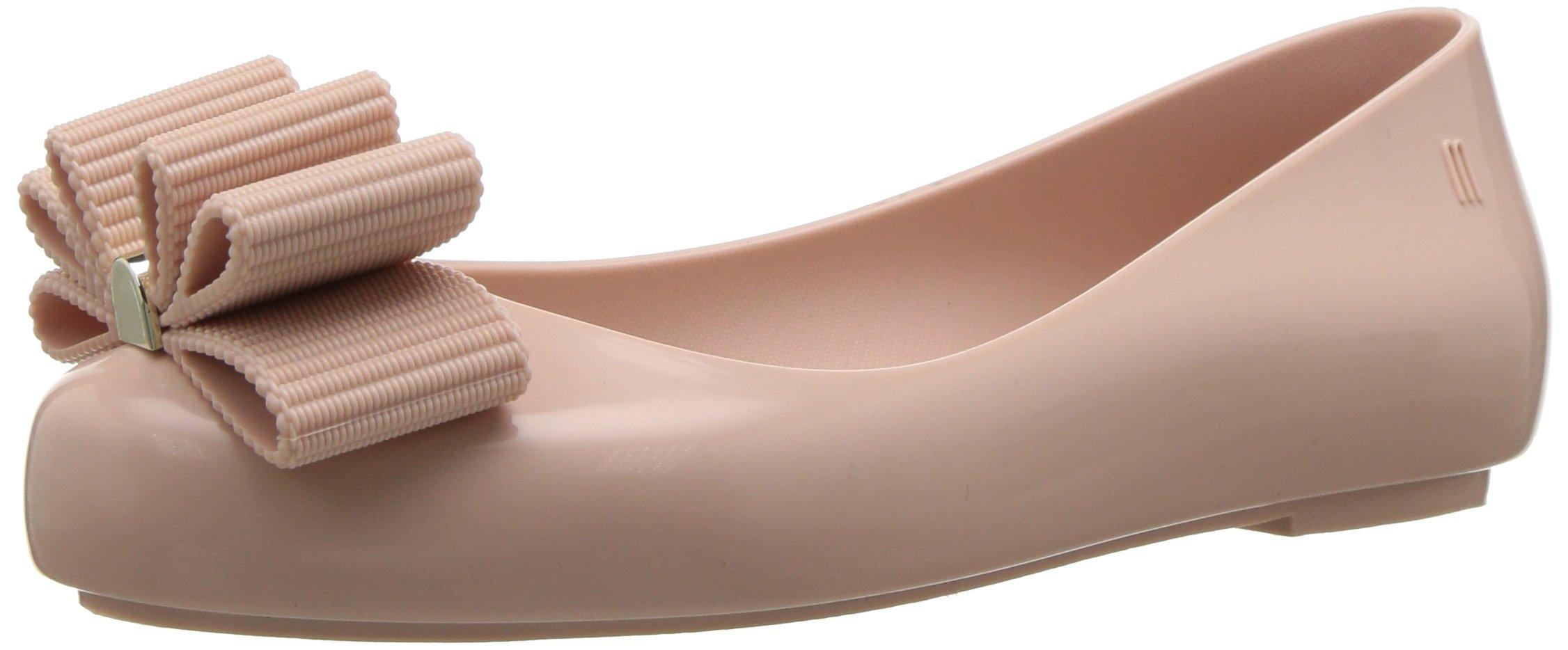 Mini Melissa Girls' Mel Space Love + Jason WU Ballet Flat, Sand, 1 M US Little Kid