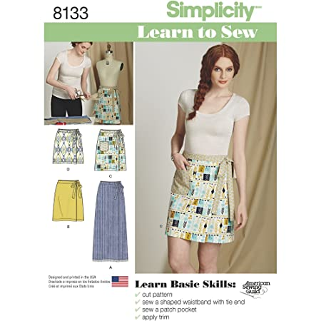 Simplicity Pattern 8133 Misses\' Learn to Sew Wrap Skirts Sewing ...