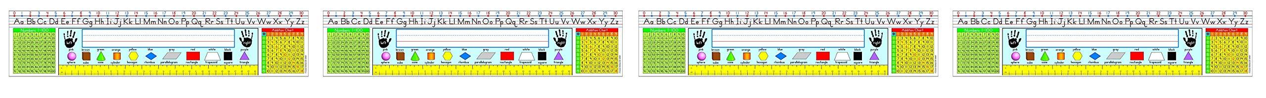 Carson Dellosa Traditional Manuscript: Grades 1-3 Nameplates (124001) (Fоur Расk)