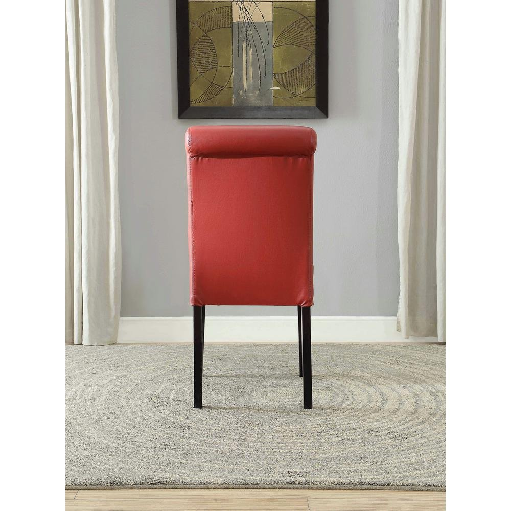 Major-Q Faux Leather Side Chair for Dining Room//Living Room//Office Fine Wine Red 19 x 39 x 25 MQ-59758