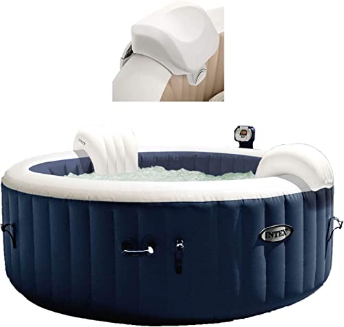 Intex 28405E PureSpa 4 Person Home Outdoor Inflatable Portable Heated Round Hot Tub Spa 58-inch x 28-inch