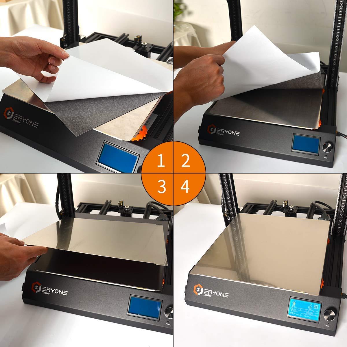 ERYONE 3D Printer Magnetic Flexible PEI Build Surface for 3D Printing Platform 310 310mm