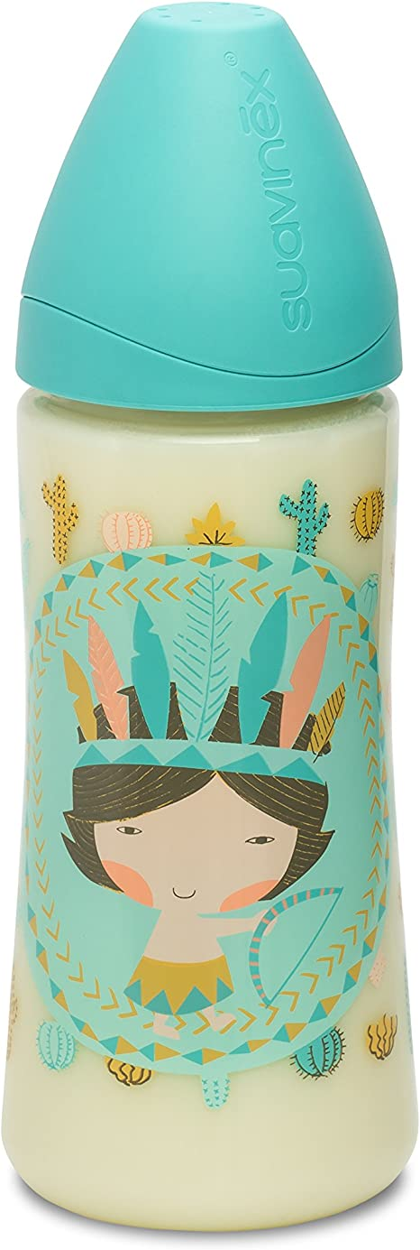 360 ml Suavinex 303134 color lila indios Biber/ón tetina papilla de silicona