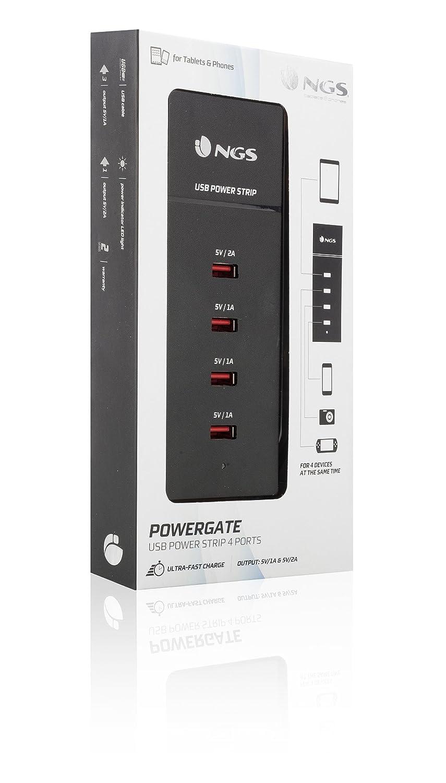 NGS Powergate Cargador USB de 4 puertos