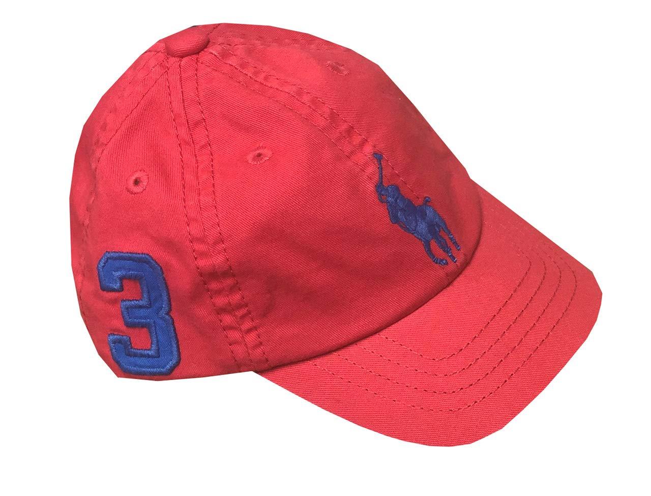 Ralph Lauren Infant Boys Big Pony Logo Hat Ball Cap (12M/24M, Coral)