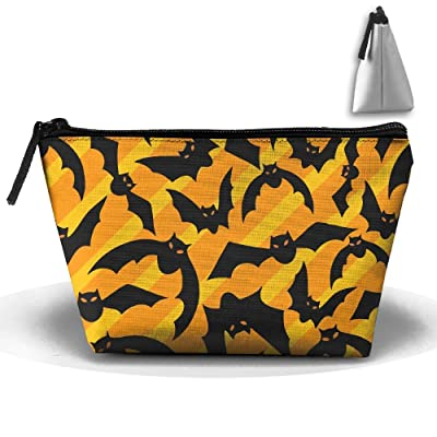 free shipping Bats Pattern Multifunction Portable Pouch Trapezoidal Storage Travel Bag