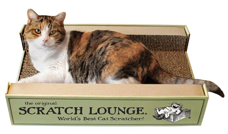 The Original Scratch Lounge - Worlds Best Cat Scratcher - (Includes Catnip)