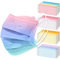 NiHealth 60-Pack Adult Disposable Protective Face Masks 3-Layer Individually Wrapped Stylish Design Comfortable…