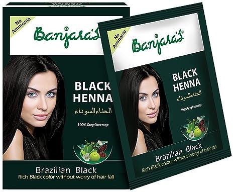 Mehndi Henna For African Hair : Buy banjara s black henna brazilian gms online at low