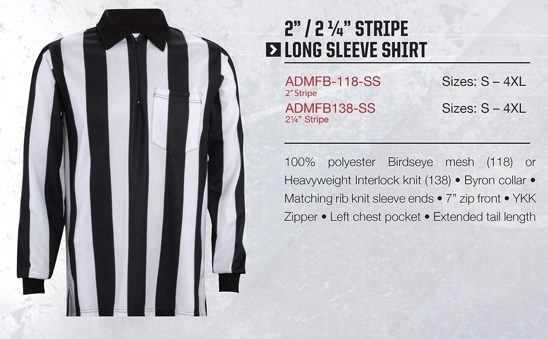 Adams Shirt Referee Football 2-1//4 Stripe Black//White