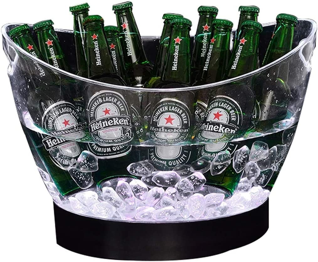 MHRCJ Cubo 7-Color Champaña Bebidas for Vino Cerveza Enfriador de Hielo for restaurantes Bares Discotecas KTV Pub Party
