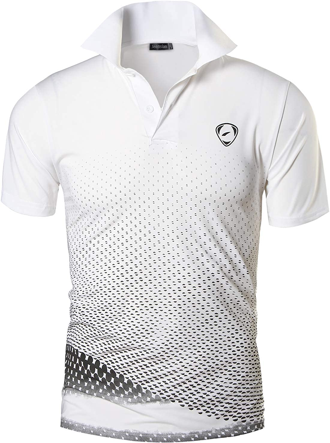 jeansian Mens Sport Outdoor Quick Dry Short Sleeves Polo Tee T-Shirt Tops LSL195