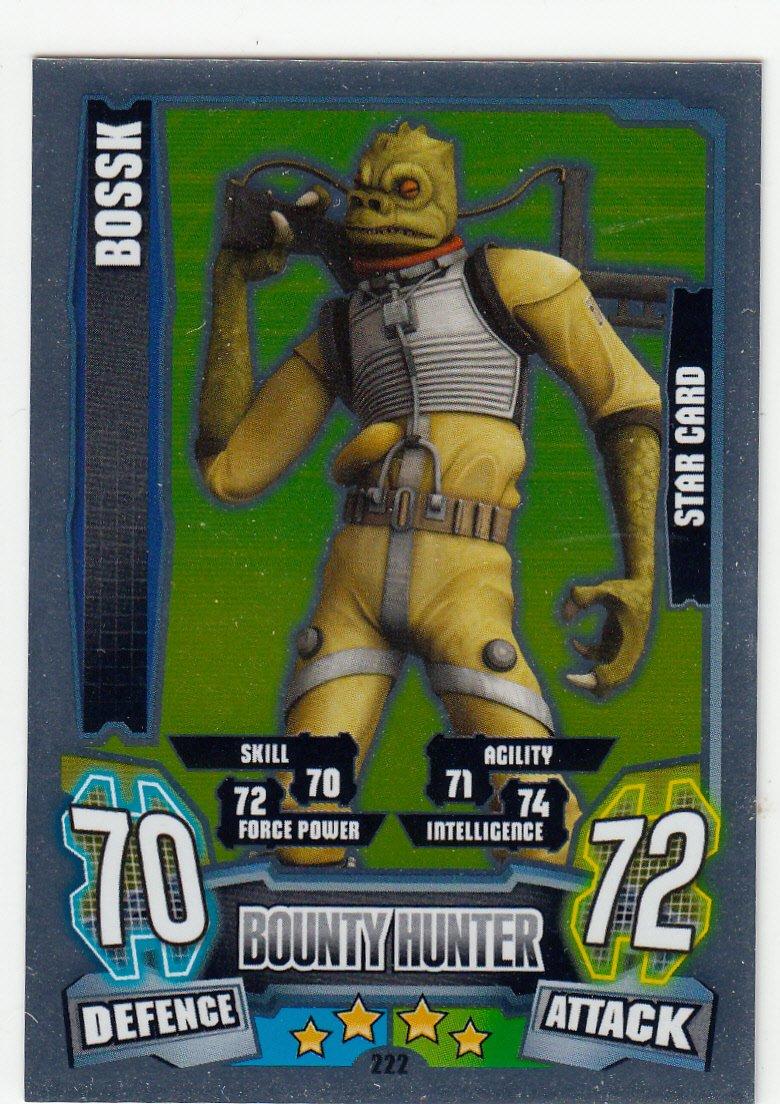 Star Wars Force Attax Series 4 The Clone Wars Bossk Star