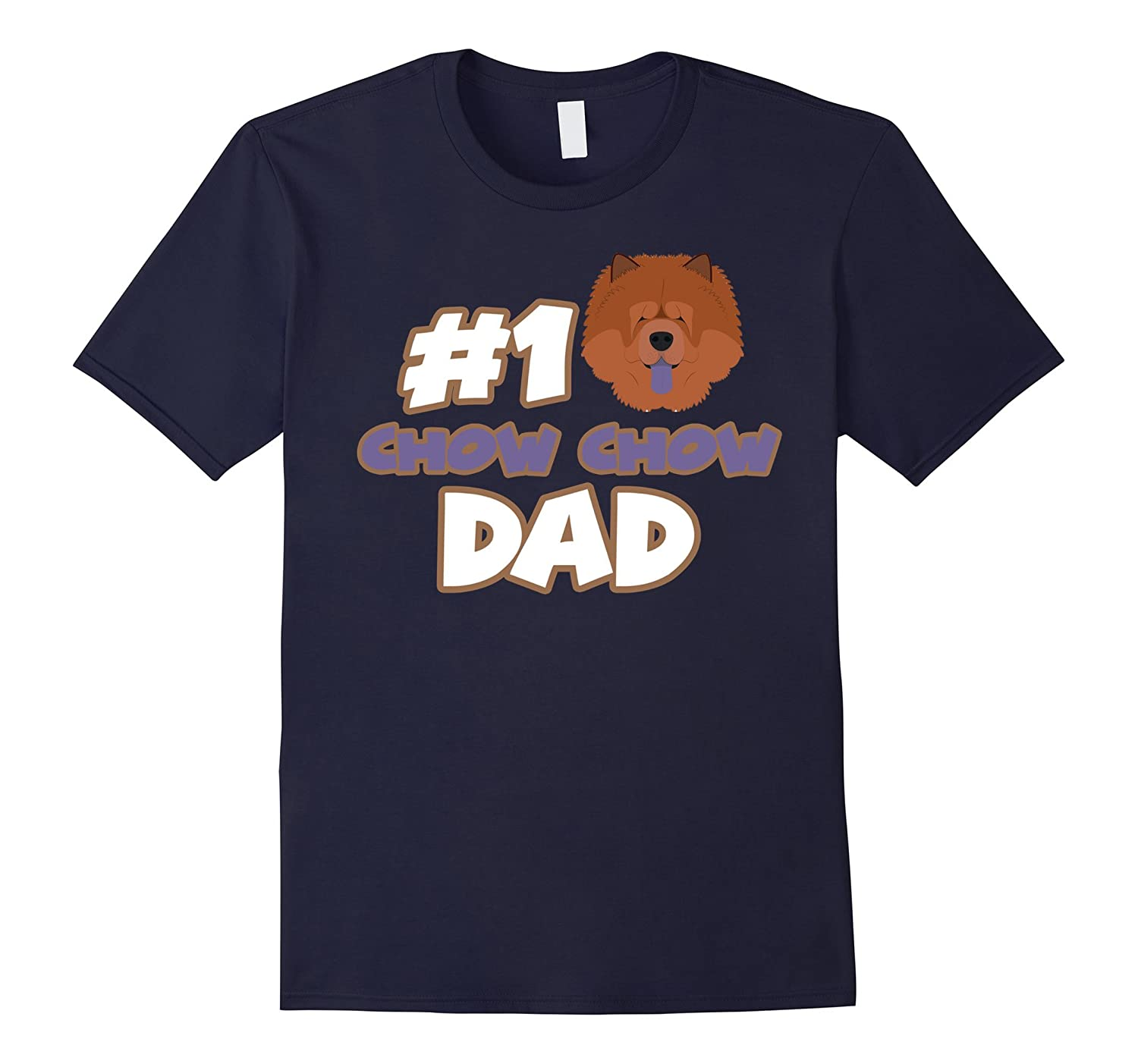 #1 Chow Chow Dad Funny Love Shirts-Art
