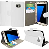 Gr8 value Luxury PU Leather Wallet Cover Flip book Phone Mobile Case For Samsung Galaxy S5 mini (plain white book)