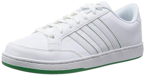 timeless design ac285 7f7c5 Adidas Courtset, Zapatillas Bajas para Hombre, Ftwwht Green, 40 2 3 EU   Amazon.es  Zapatos y complementos