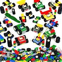 Axles Windows and Doors Piec Tires 1100 Piece Building Bricks Kit with Wheels