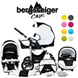 Bergsteiger Capri Kombikinderwagen 3-in-1 - System; Autositz; Schwenkräder (Megaset 10 - teilig; 8 Farben)