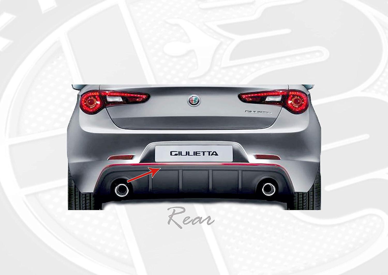 Quattroerre 19983 Profilo Argento Adesivo per Dam Paraurti Full Anteriore Posteriore Alfa Giulietta con Biadesivo 3M APT