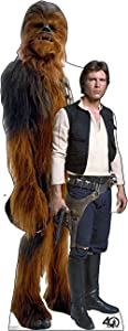 Cardboard People Han Solo & Chewbacca Life Size Cardboard Cutout Standup - Star Wars 40th Anniversary