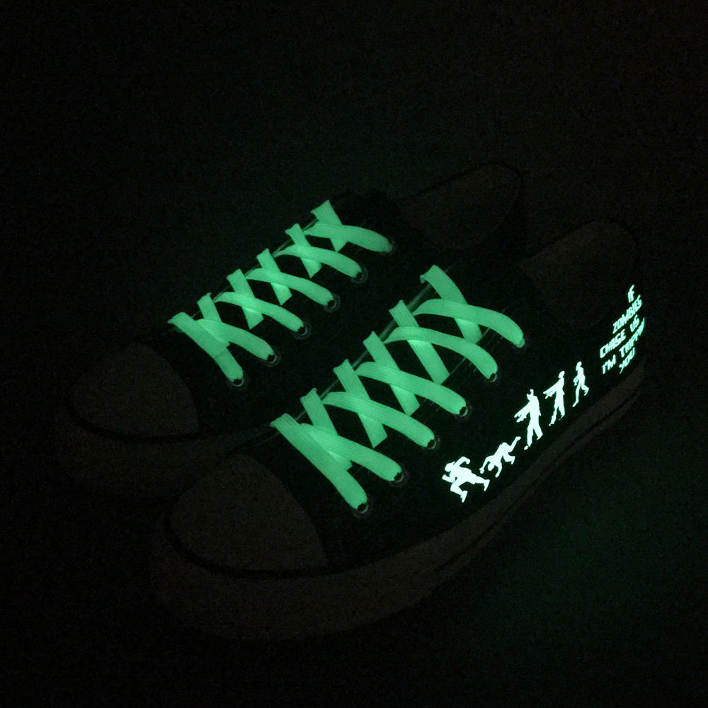 E-LOV Black Luminous Zombies Printing Canvas Shoes Low Cut Sneakers Lace up Funny Casual Shoes Glow in Dark for Men Gift Idea by E-LOV (Image #7)