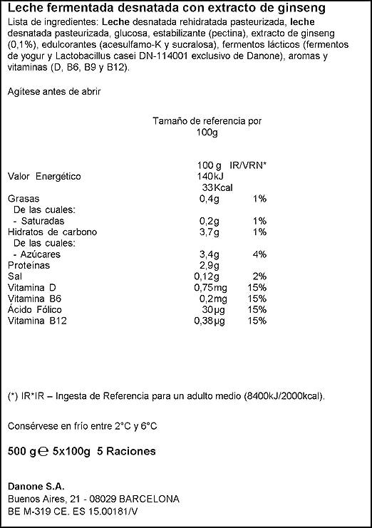 Danone Actimel Provital 0% - Natural, Pack 5 x 100 g: Amazon.es: Alimentación y bebidas