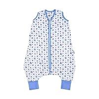 Schlummersack Baby Musselin Sommerschlafsack mit Füßen 0.5 Tog - Boote - erhältlich in 4 verschiedenen Größen