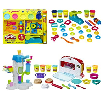 Amazon Com Play Doh Fun Factory Mega Set Play Doh Sweet Shoppe