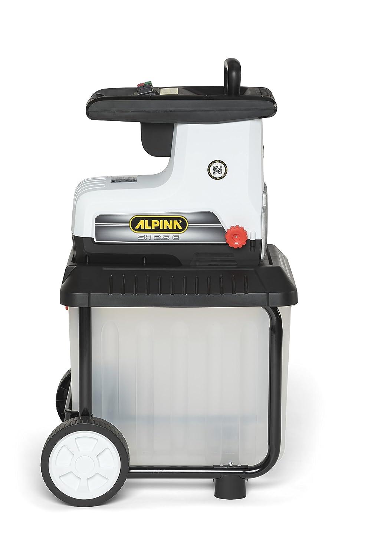 Capacidad de Bolsa 60 L Blanco Alpina 290001250//13 Biotrituradora El/éctrica SH 2.5 E Gris Negro Di/ámetro de Corte /Ø rami 40 mm 2500 W