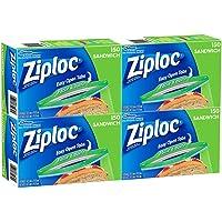 Ziploc Sandwich Bags, 6.5 x 5.875-Inch
