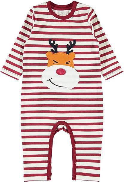 NAME IT - Pelele - Manga Larga - para bebé niño Bufón Rojo 12 Meses