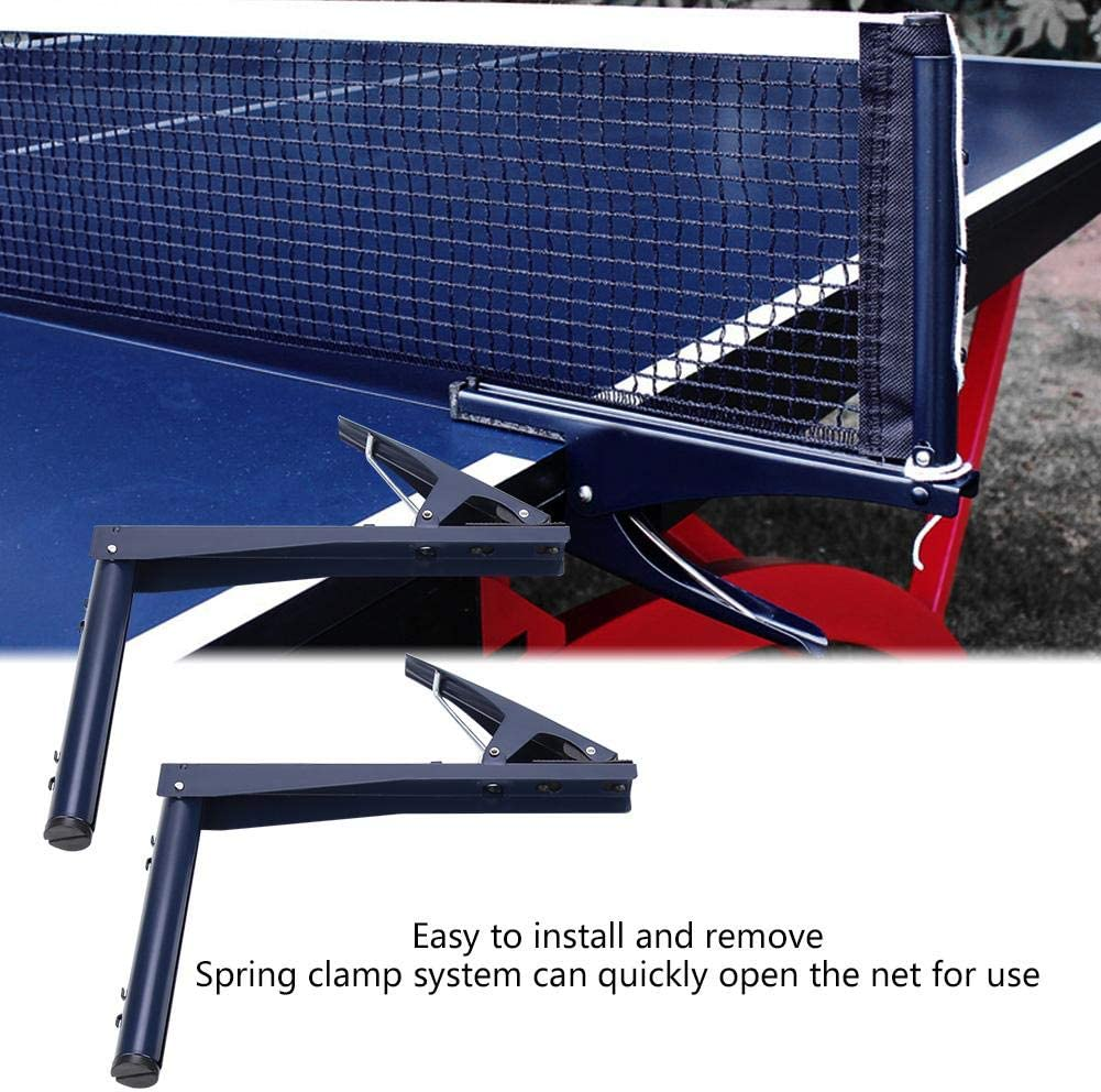Keenso Red portátil de Ping-Pong con Abrazadera de Metal, Kit de Bastidor de Ping-Pong Altura Ajustable Plegable (Azul)