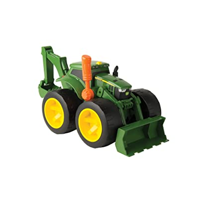John Deere Monster Treads 2X Scoop Tractor: Toys & Games