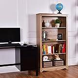 Leisure Zone Bookshelf Bookcase CD DVD Display Stand Shelf Unit Storage Organiser Rack Cabinet