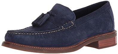 2388ee06f48 Cole Haan Mens Pinch Sanford Tassel Loafer Marine Blue Suede 9 D (M)
