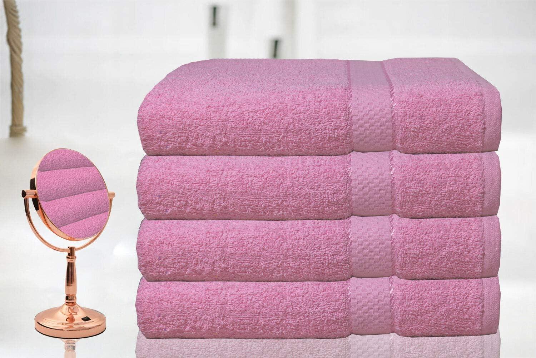 superweich 100 /% /ägyptische Baumwolle Pink 4 St/ück Casabella Luxus-Badetuch