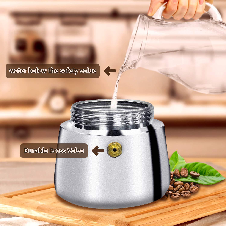 Amazon.com: Stovetop - Cafetera espresso con cucharas ...