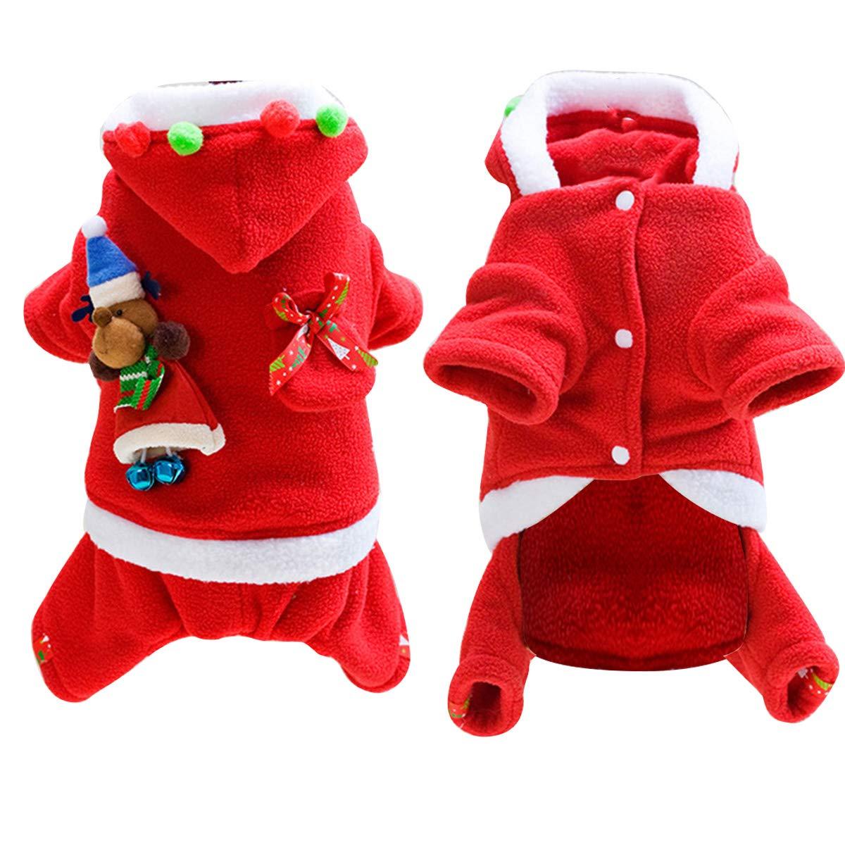 Petyoung Disfraz de Papá Noel para Perro, Cachorro, Mascota ...