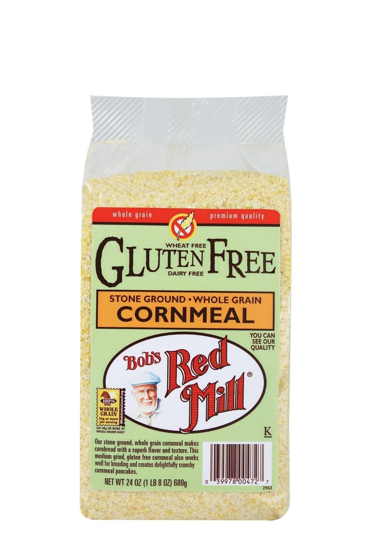 Bob's Red Mill Gluten Free Cornmeal, 24-ounce (Pack of 4) by Bob's Red Mill