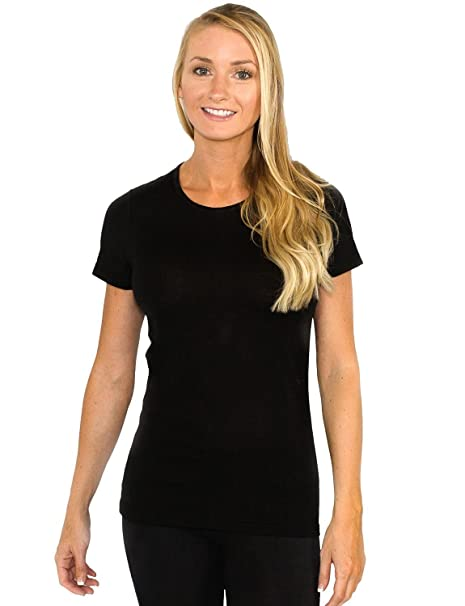 333ab50f58c Buy Woolx Women s Merino Wool Tee - LIGHTWEIGHT - NO ODOR - NO ITCH  GUARANTEED Online at Low Prices in India - Amazon.in