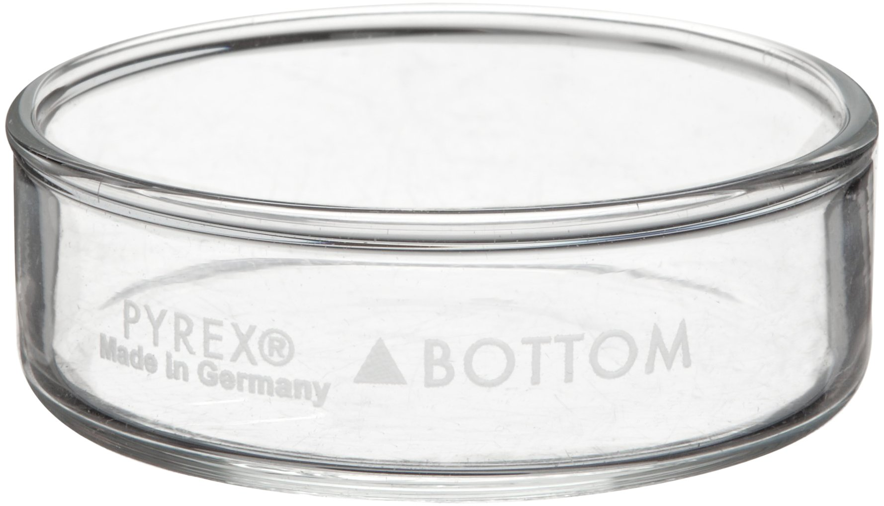 Corning Pyrex Borosilicate Glass Petri Dish Cover Only, 100mm Diameter x 15mm Height (Pack of 12)