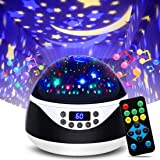 Night Lights with Music & Timer,MOKOQI Star Light Constellation Projector,Sound Machine for Baby Sleeping,Gifts for Girls Boy
