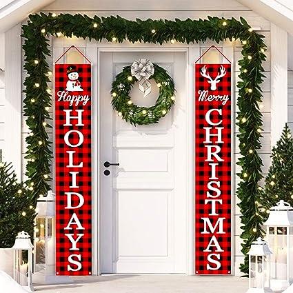 Amazon.com: Mosoan Merry - Cartel de Navidad para porche ...