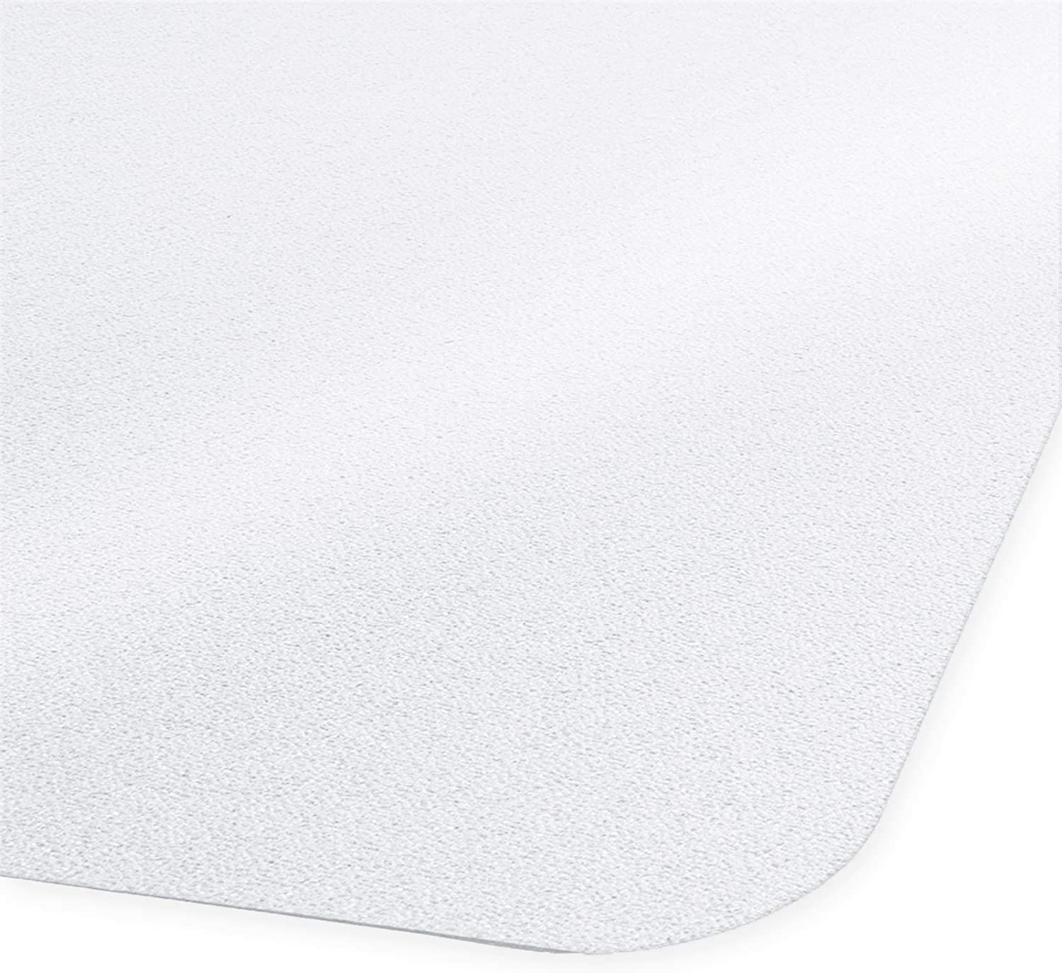 """Office Marshal Hard Floor Office Chair Mat - 40"""" x 48"""" - Frosted/See-Through & High Strength"""