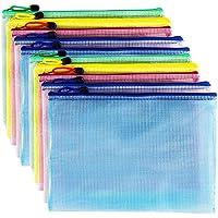 AUSTARK 10Pcs Zipper File Bags, Zipper Pouch, PVC Document Bag Zipper Folders Document Pouch Receipts Organizer for…