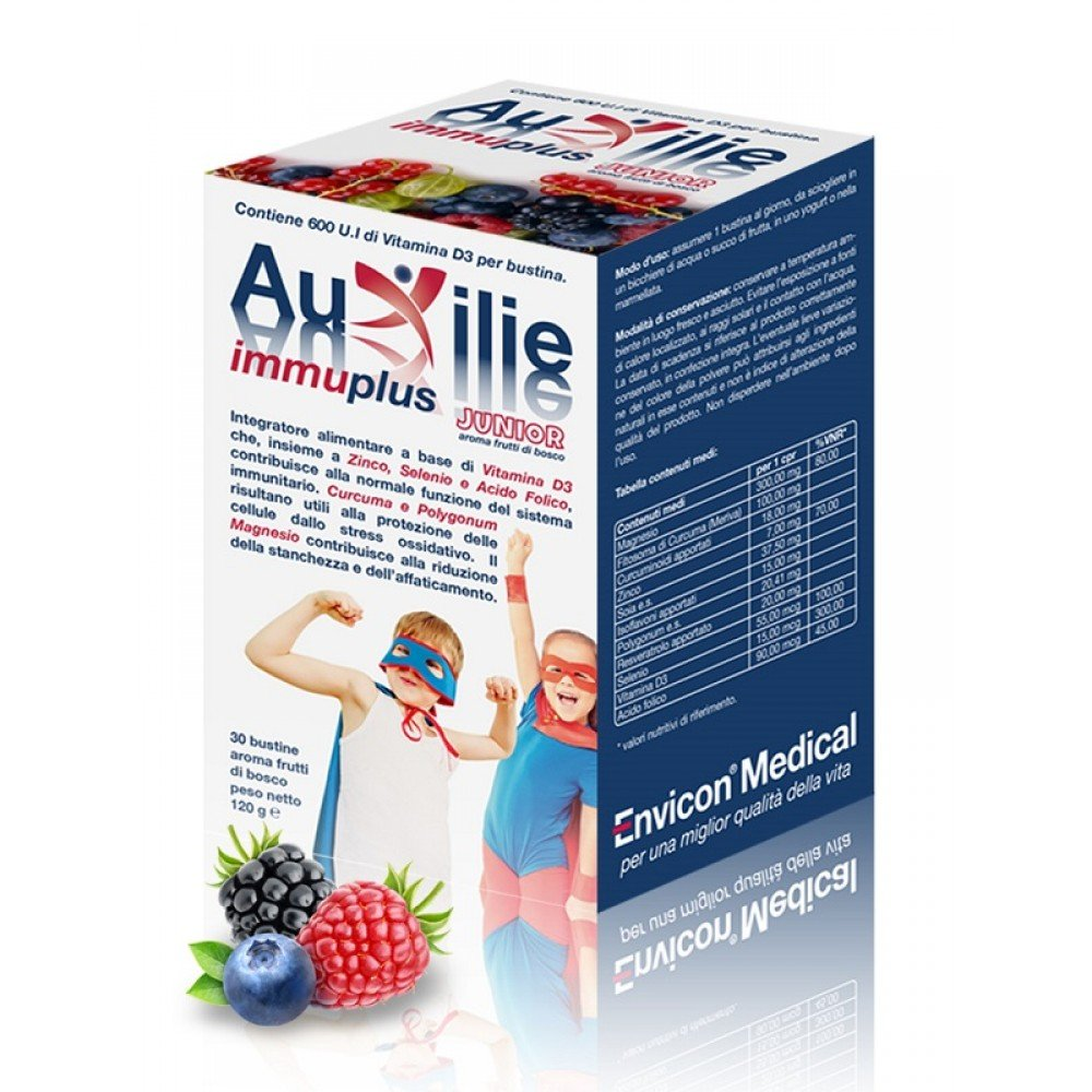 Amazon.com: Auxilie Immuplus Junior Food Supplement 30 Sachets: Health & Personal Care