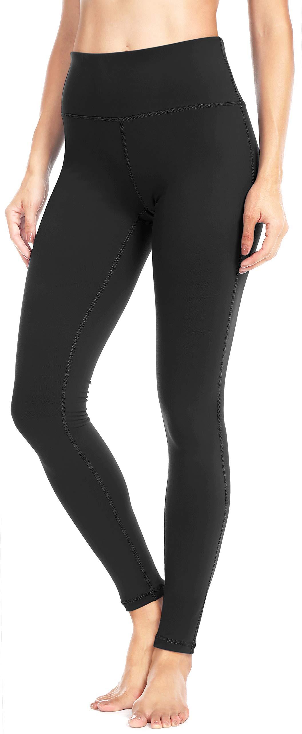 Queenie Ke Women Power Flex Yoga Pants Workout Running Leggings Size XS Color Midnight Black Long