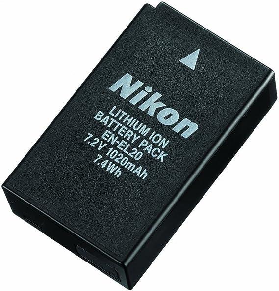 Nikon EN-EL20 - Batería Recargable para Nikon 1 J1 (7.2 V, 1200 ...